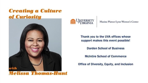 Thumbnail for entry Creating a Culture of Curiosity - With Melissa Thomas Hunt