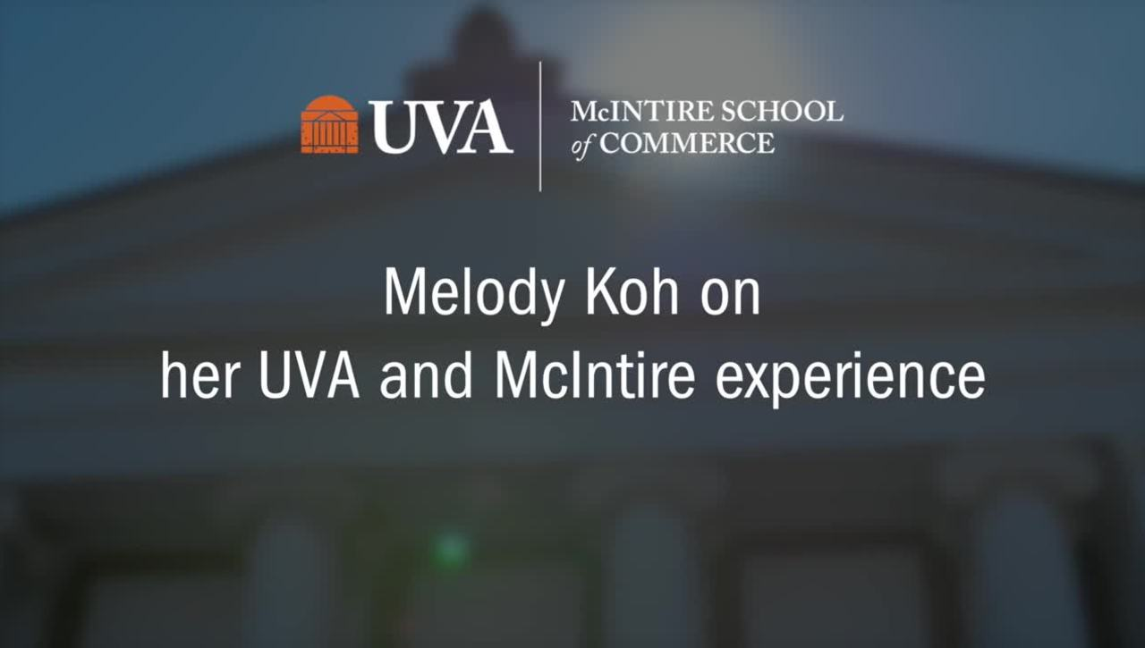Melody Koh on Her UVA and McIntire Experience