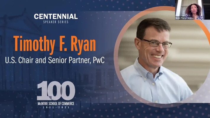 McIntire Centennial Speaker Series: A Conversation with Tim Ryan