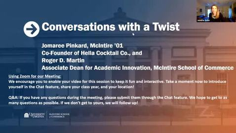 Thumbnail for entry McIntire Conversations with a Twist feat. Jomaree Pinkard (McIntire '01)