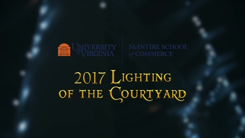 Thumbnail for entry Lighting of the Courtyard 2017