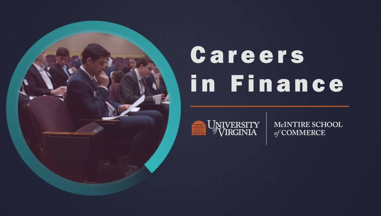 About Careers in Finance at the McIntire School of Commerce