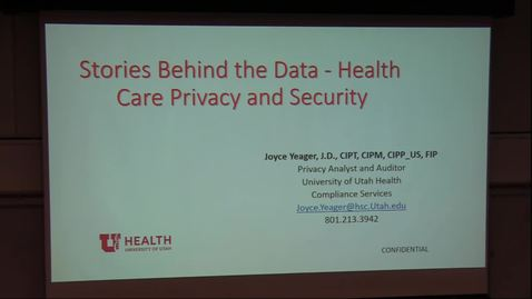 Thumbnail for entry Stories behind the data - health care privacy & security
