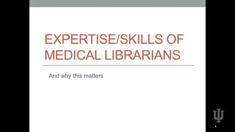 Thumbnail for entry Video 6 Skills and Expertise of Librarians