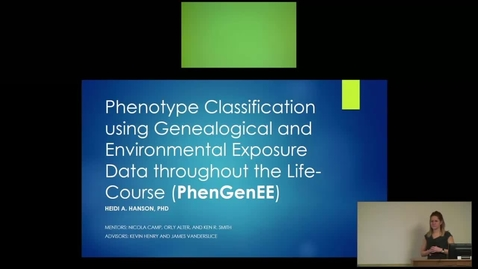 Thumbnail for entry Phenotype Classification using Genealogical and Environmental Exposure Data throughout the Life-Course (PhenGenEE)
