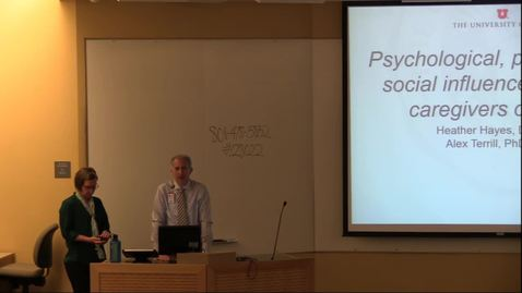 Thumbnail for entry Psychological, physical, & social influences on elder caregivers of stroke
