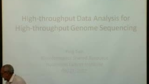Thumbnail for entry High Throughput Data Analysis for High Throughput Genome Sequencing | Ying Sun, PhD. | 2012-09-27