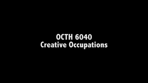 Thumbnail for entry Creative Occupations