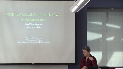 Thumbnail for entry BMI Graduate Seminar - Wendy Chapman