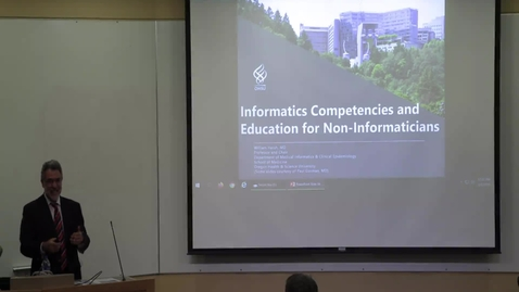 Thumbnail for entry Informatics Competencies and Education for Non-Informaticians