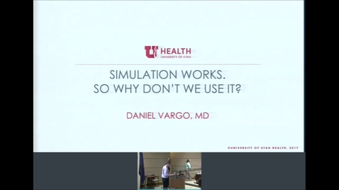 Thumbnail for entry 9/4/19 Simulation Works- So Why Don't We Use It?