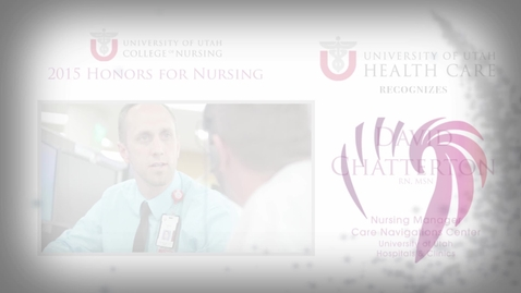 Thumbnail for entry Dave Chatterton University of Utah Health Care Honoree