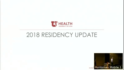Thumbnail for entry 6/6/18 State of the Residency