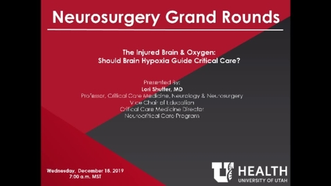 Thumbnail for entry The Injured Brain & Oxygen: Should Brain Hypoxia Guide Critical Care?