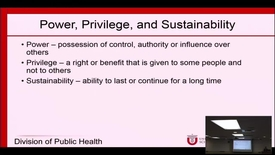 Thumbnail for entry Global Health Education: Power, Privilege, and Sustainability (no audio)