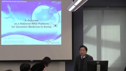 Thumbnail for entry K-Genome as a National HRD Platform for Genomic Medicine in Korea