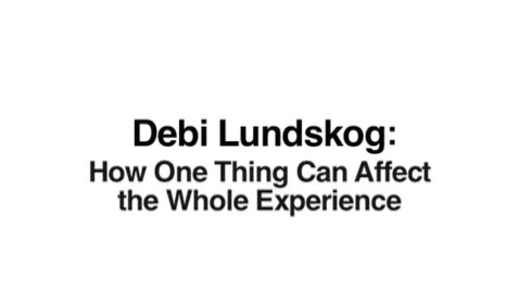 Thumbnail for entry Debi Lundskog: How One Thing Can Make A Difference
