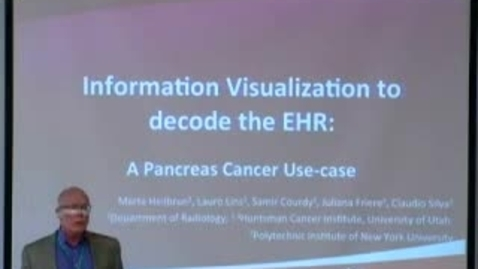 Thumbnail for entry Exploring Medical Paths in EHR using Information Visualization | Marta Heilbrun, MD, MS. | 2012-09-06
