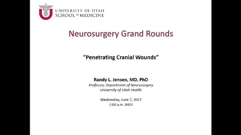 Neurosurgery Grand Rounds 06-07-2017