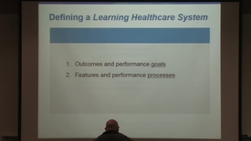 Thumbnail for entry Toward a Learning Healthcare Delivery