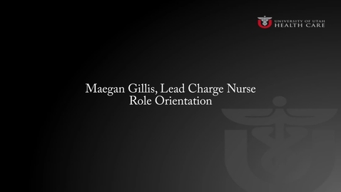 Thumbnail for entry Maegan Gillis: Role Orientation