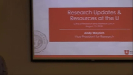 Thumbnail for entry Research update & resources at the U