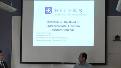 Thumbnail for entry DBMI Business Seminar- Dr. Gerasimos Petratos