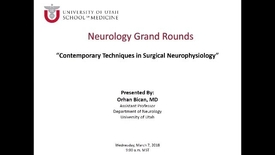 Thumbnail for entry Contemporary Techniques in Surgical Neurophysiology