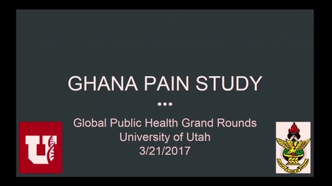 Thumbnail for entry Ghana Pain Study