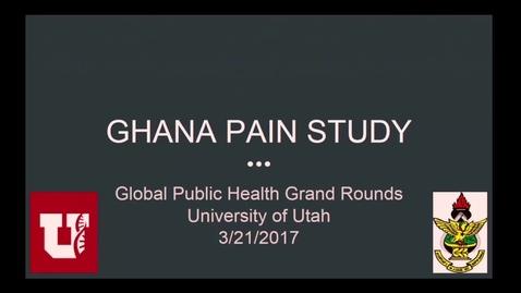 Thumbnail for entry Ghana Pain Study