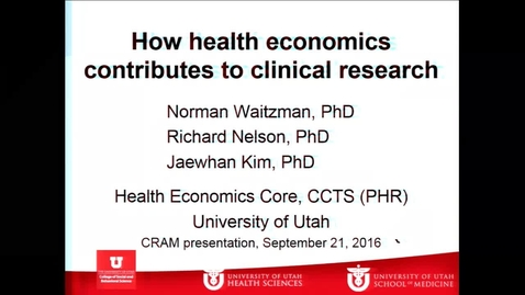 How health economics contributes to clinical research