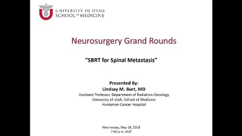 Thumbnail for entry SBRT for Spinal Metastasis