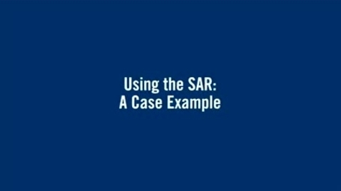 Thumbnail for entry Using the SAR - A case example