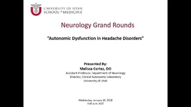 Thumbnail for entry Autonomic Dysfunction in Headache Disorders