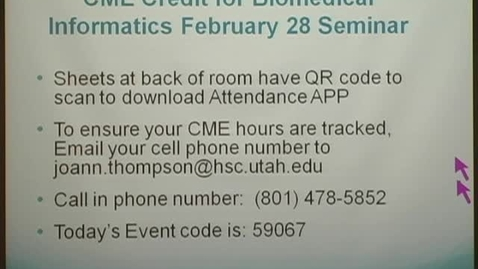 Thumbnail for entry Meaningful use: Experience at intermountain healthcare