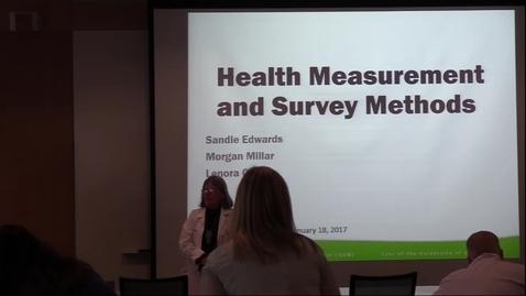Health measurement & survey methods