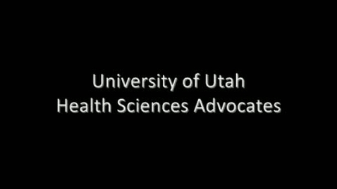 Thumbnail for entry Health Sciences Advocates