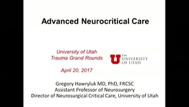 Thumbnail for entry 4/20/17 Advanced Neurocritical Care