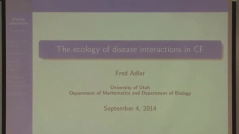 Thumbnail for entry The ecology of disease interactions in the CF lung