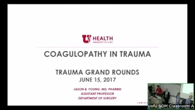 Thumbnail for entry 6/15/17 Reversal of Anticoagulants in Trauma