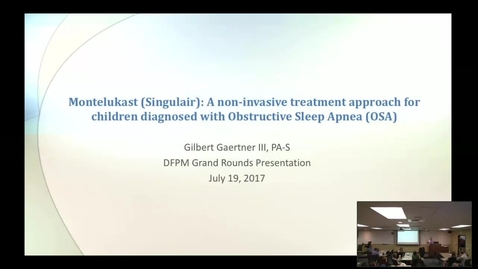 Thumbnail for entry Montelukast (Singulair): A non-invasive treatment approach for children diagnosed with Obstructive Sleep Apnea (OSA)