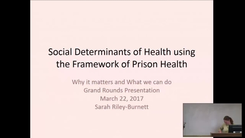 Thumbnail for entry Social Determinants of Health using the Framework of Prison Health