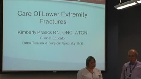 Thumbnail for entry Care of lower extremity fractures September 11, 2012