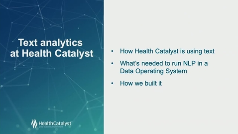 Thumbnail for entry Text Analytics at Health Catalyst
