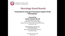 Thumbnail for entry Using Natual Language Processing to Support Stroke Phenotyping