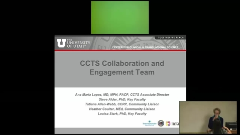 Thumbnail for entry An Introduction to the CCTS Collaboration and Engagement Team