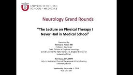Thumbnail for entry The Lecture on Physical Therapy I Never Had in Medical School