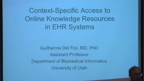 Thumbnail for entry Context-Specific Access to Online Knowledge Resources in HER Systems