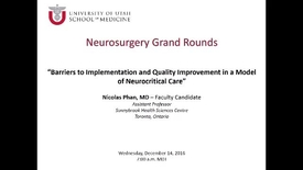 Thumbnail for entry Neurosurgery Grand Rounds 12-14-2016