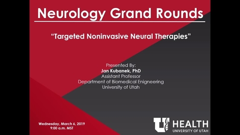 Thumbnail for entry Targeted Noninvasive Neural Therapies